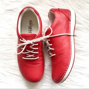Algeria Essence Lace Up Shoes In Tomato 9